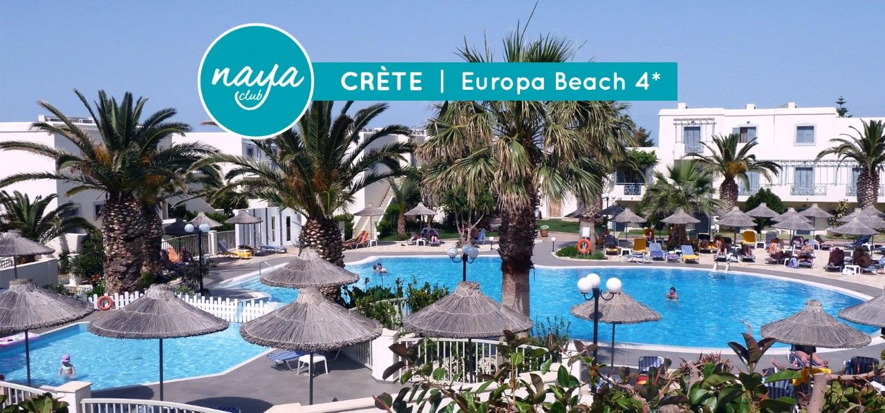 NAYA CLUB CRETE - EUROPA BEACH 4*(NL) + PACK DECOUVERTE 3 EXCURSIONS